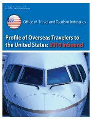 Profile of Overseas Travelers to the United States: 2010Inbound