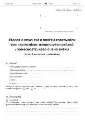 Žádost o povolení k odběru podzemních vod pro potřeby ... - Mikulov
