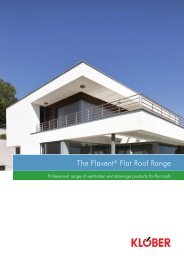 Flavent Flat Roofing Product Guide - Klober