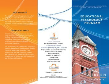 583KB - College of Education - Auburn University