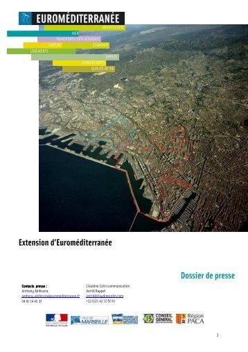Extension d'Euroméditerranée Dossier de presse