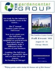 Fall Event - The Garden Center Group