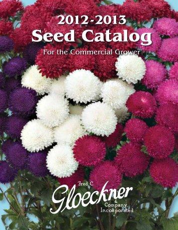 Seed Catalog - Fred C. Gloeckner & Company Inc.