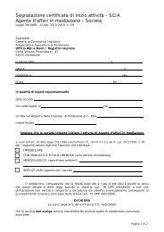 SCIA Agente d'affari in mediazione - Società - CCIAA di Pordenone
