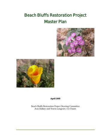 Beach Bluffs Restoration Project Master Plan - The Urban Wildlands ...