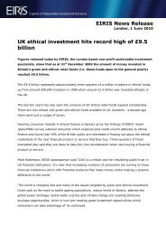 EIRIS News Release UK ethical investment hits record high of £9.5 ...