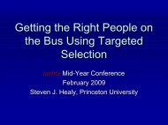 Getting the Right People on the Bus Using Targeted ... - IACLEA