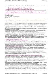 Enseignements primaire et secondaire - Mathématiques dans l ...