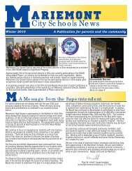 Winter 2010 - Mariemont City Schools