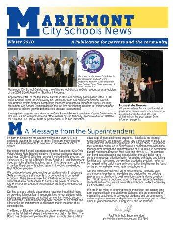 Winter 2010 - Mariemont City Schools