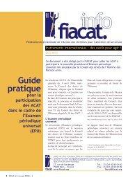 Guide pratique pour la participation des ACAT dans le cadre ... - fiacat