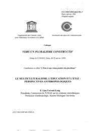 Vers un pluralisme constructif - unesdoc - Unesco