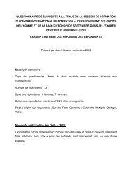 Examen synthèse des réponses des répondants au ... - cifedhop