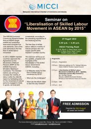 Liberalisation of Skilled Labour Movement in ASEAN by 2015