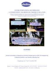 Lire le rapport en format PDF - cifedhop