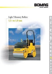 1,5 t to 1,8 tons Light Vibratory Rollers 1,5 t to 1,8 tons