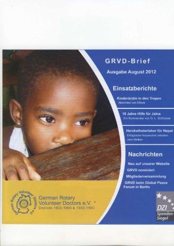 GRVD-Brief Ausgabe August 2012 - Rotary Club Erbach-Michelstadt