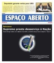 Espaço Aberto Junho 2009.p65 - Jornal Espaço Aberto