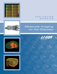 Molecular Imaging on the LI-COR Odyssey Imaging System ...