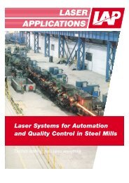 Laser Systems for Automation and Quality Control in Steel Mills