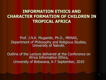 JNK Mugambi - Africa Information Ethics Portal
