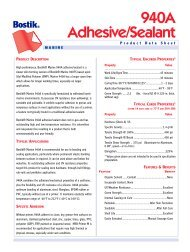 940 Fast Set Adhesive/Sealant - Bostik, Inc