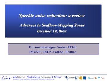 Speckle noise reduction