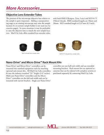 More nanopositioning accessories - Mad City Labs