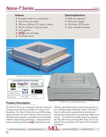 Nano-T Series - XY and XYZ piezo nanopositioning ... - Mad City Labs