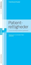 Patient- rettigheder - Frederikssund Hospital