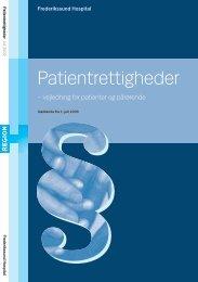 Patientrettigheder - Frederikssund Hospital
