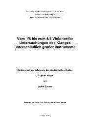 Vom 1/8 bis zum 4/4 Violoncello - Universität für Musik und ...