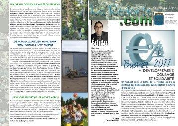 Lettre d'information La Redorte.com n°10 - printemps 2011