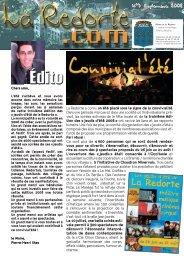 Lettre d'information La Redorte.com n°7 - septembre 2008