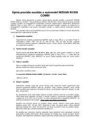 Úplná pravidla soutěže o automobil NISSAN NV200 COMBI - Makro