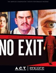 No Exit - American Conservatory Theater