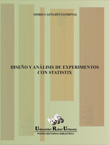 Diseño y análisis de experimentos con Statistix - Universidad Rafael ...