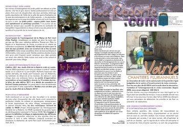 Lettre d'information La Redorte.com n°11 - automne 2011