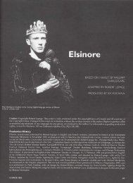 Elsinore - Canadian Adaptations of Shakespeare Project