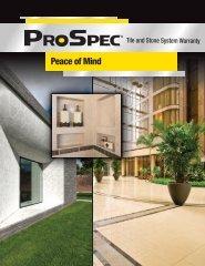 Tile and Stone System Warranty Brochure - Prospec