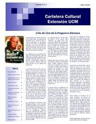 Cartelera Cultural Mayo - Inicio