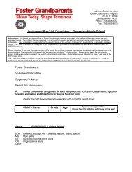Assignment Plan/ Job Description – Elementary-Middle School ...
