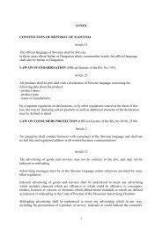 1 ANNEX CONSTITUTION OF REPUBLIC OF SLOVENIA Article 11 ...