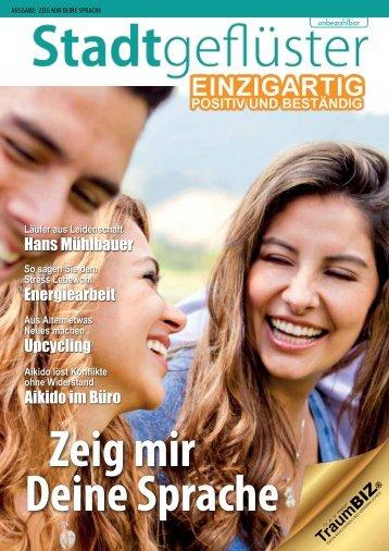 2014/08 Stadtgeflüster Zeig mir Deine Sprache