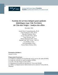 Système de services intégrés pour patients diabétiques type 2 du ...