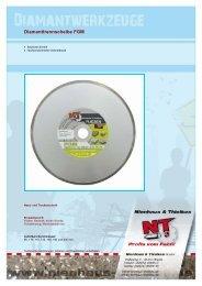 Diamanttrennscheiben für Nass-/Trockenschnitt - Nienhaus & Thielkes