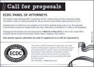 Call for proposals - Eastern Cape Development Corporation