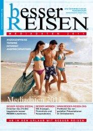Mediadaten 2011 - besser REISEN