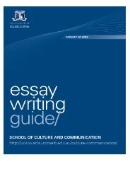 Essay writing guide - School of Culture and Communication ...