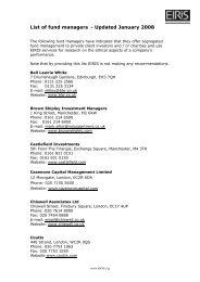 List of fund managers - Updated January 2008 - Eiris